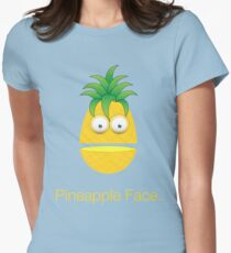 Pineapple Face Womens Fitted T-Shirt
