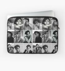 cole sprouse black and white aesthetic collage Laptop Sleeve
