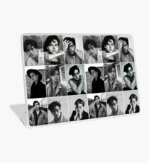 cole sprouse black and white aesthetic collage Laptop Skin