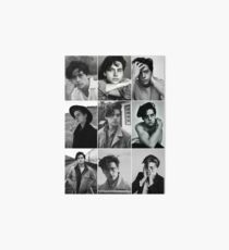 cole sprouse black and white aesthetic collage Art Board
