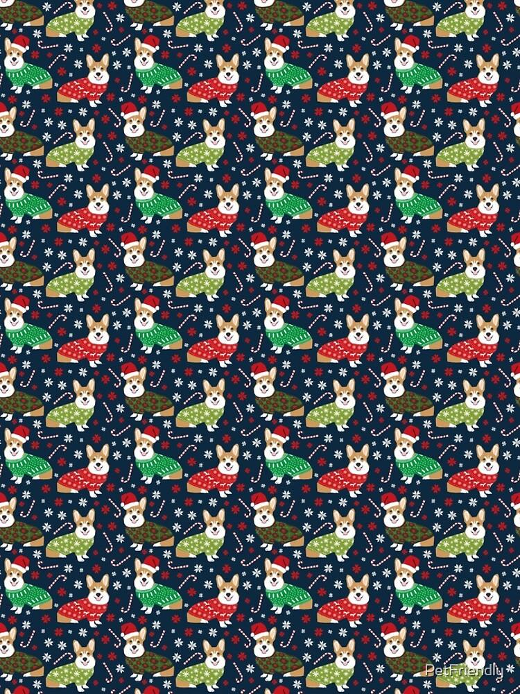 Corgi welsh corgi christmas sweater santa hat dog gifts dog breeds by pet friendly by PetFriendly