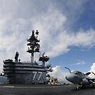Der Flugzeugträger USS George HW Bush. von StocktrekImages