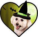 Doggo Stickers: Witchy Doggo by Elisecv