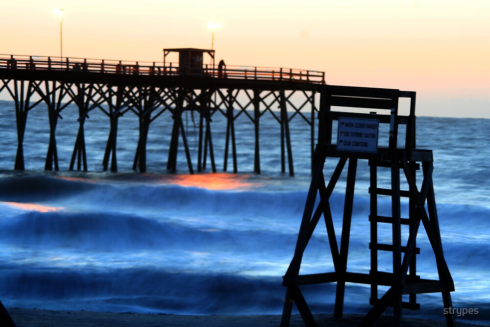 early morning @ kure beach pier by strypes
