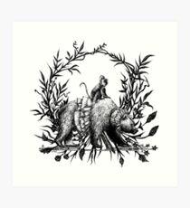 Monkey & Bear Art Print