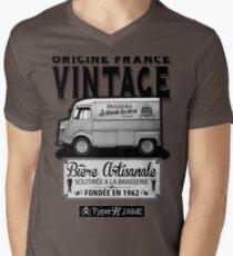 Origine France Vintage Mens V-Neck T-Shirt