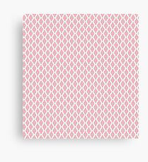 White, Pink and Green Summer Triangles Pattern Canvas Print