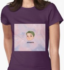 BTS -BS, T Chibi RAP MONSTER with bg Womens Fitted T-Shirt
