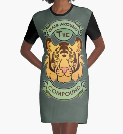Walk Around The Compound Graphic T-Shirt Dress