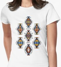 Colorful geometrical graphic Design Womens Fitted T-Shirt
