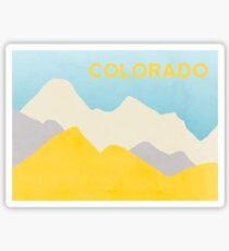 Colorado Mountains State Outline Sticker