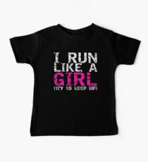 Run Like a Girl Baby Tee