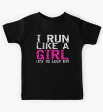 Run Like a Girl Kids Tee