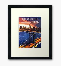 New York The Wonder City of Dreams Framed Print
