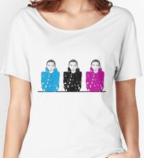 bella hadid drawing Women's Relaxed Fit T-Shirt