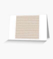 Copper and White Diamonds Greeting Card