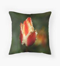 Tulip after rain Throw Pillow