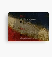Les Mis-Red & Black  Canvas Print