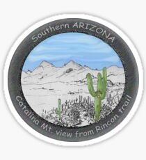 Hiking in the Rincon Mountains of Southern Arizona Sticker