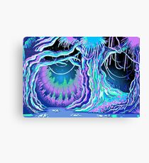Magic Tale Blacklight Forest Background Canvas Print