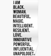 I Am Black Woman | African American | Black Lives Poster