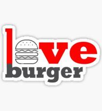 Love Burger at Best Sticker