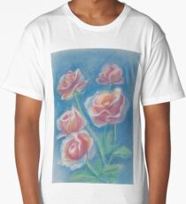 Tea roses in the pastel technique Long T-Shirt