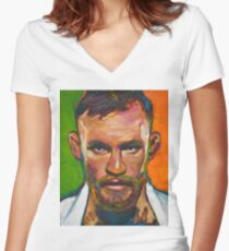 Conor McGregor by Robert Phelps Women's Fitted V-Neck T-Shirt