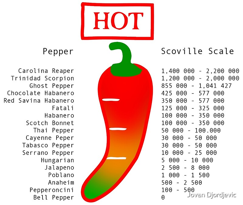 Scoville Scale - Chilli | Art Print