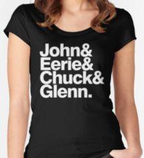 Danzig memember list ampersand shirt Women's Fitted Scoop T-Shirt