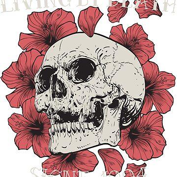 Skull & Flowers by tasostsintzi
