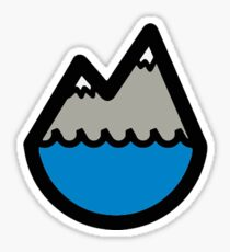 Mountain and Sea Sticker
