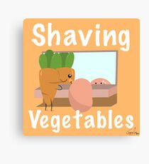 Shaving Vegetables by ToxxicArt Canvas Print