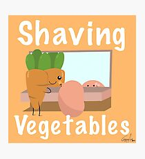 Shaving Vegetables by ToxxicArt Photographic Print