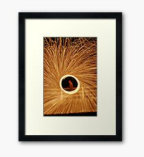 fire poi with twist 3  Framed Print