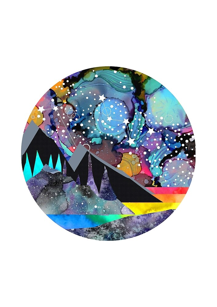 Cassiopeia Mixed Media Landscape by Emery Smith