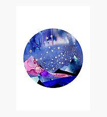 Gemini Constellation Watercolour Landscape Photographic Print