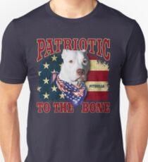 Pitbulls, Patriotic to the Bone Unisex T-Shirt