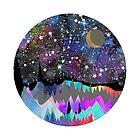 Orion Watercolor Mountain Landscape by Em Allard Smith