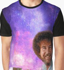 Bob Ross Paints Space Graphic T-Shirt