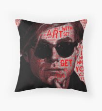Andy Warhol (Art is What You Can Get Away With) Throw Pillow