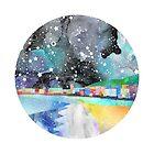Taurus Constellation Coastal Print by Em Allard Smith