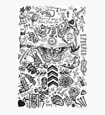 One Direction tattoos Photographic Print