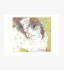 Tenderness ( in green) Art Print