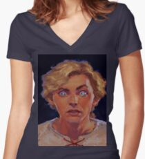 Threepwood  Women's Fitted V-Neck T-Shirt