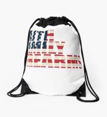 Support 2nd Amendment Gun Rights Faith Flag Drawstring Bag