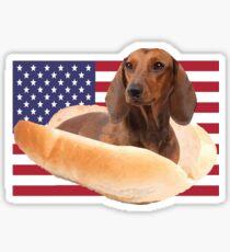 Fourth of July Doggo Sticker
