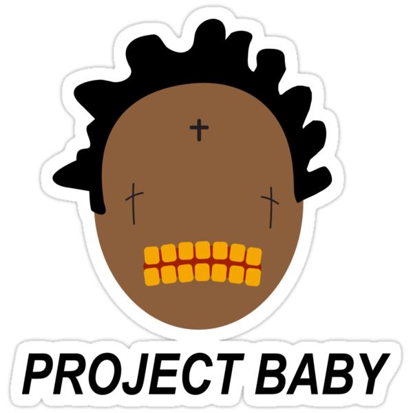 Quot Kodak Black Project Baby T Shirt Quot Stickers By Jackyboi