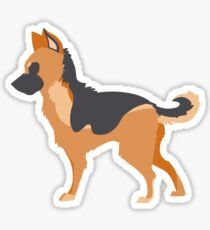 German Shepherd print Sticker