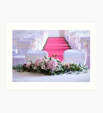 Waiting for the Bride and Groom Art Print